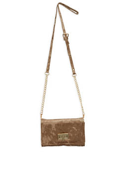 Crushed Velvet Crossbody Bag - 1126067447137