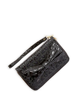 Heart Embossed Faux Leather Wallet - 1126067447157