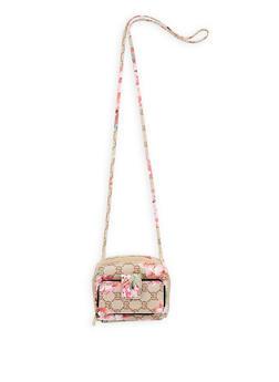 Double Zip Faux Leather Crossbody Bag - 1126067447158