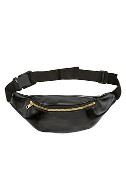 Faux Saffiano Leather Fanny Pack - 1126067448002