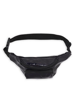 Faux Leather Double Zip Fanny Pack - 1126067448003