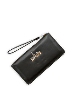 Paris Metallic Detail Wristlet - 1126067448016