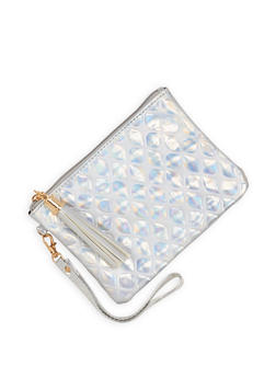 Bubble Faux Leather Wristlet - 1126067448034