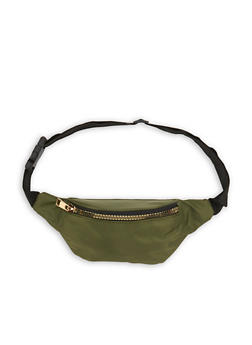 Solid Single Zip Fanny Pack - 1126067448070