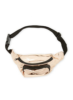 Faux Patent Leather Fanny Pack - 1126067449007