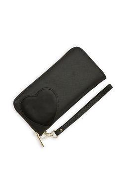 Faux Leather Heart Cutout Wallet - 1126071210032