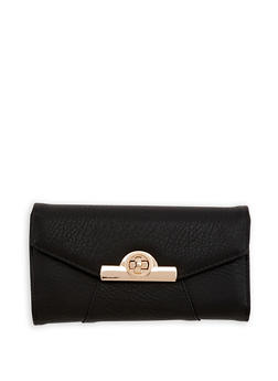 Faux Leather Envelope Wallet - 1126071211008