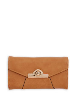 Faux Leather Envelope Wallet - 1126071211008