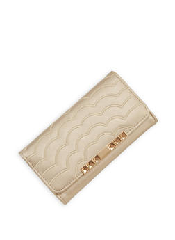 Embroidered Tri Fold Wallet - 1126071218690