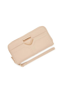Wristlet Wallet with Metal Accents - 1126073401015