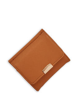 Textured Faux Leather Card Wallet - 1126073401054