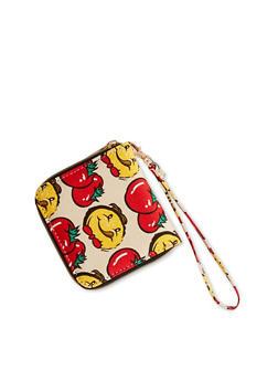 Tomato Print Wristlet Wallet - 1126073401099