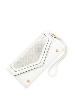 Faux Leather Laser Cut Envelope Wallet - 1126073401217