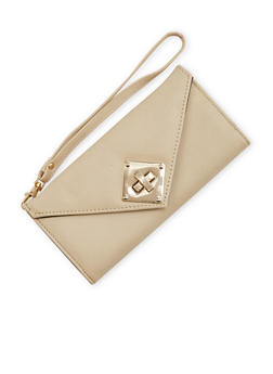Faux Leather Envelope Wristlet Wallet - 1126073409280