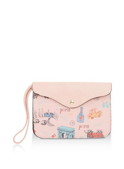 Paris Printed Wristlet - 1126073895947