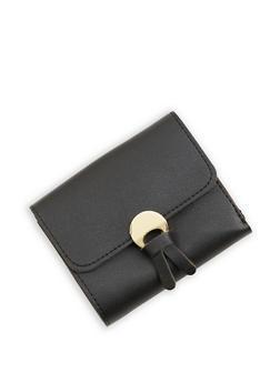 Tassel Detail Mini Trifold Faux Leather Wallet - 1126073896055