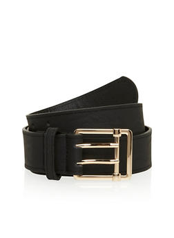 Faux Leather Double Prong Belt - 1128041652414