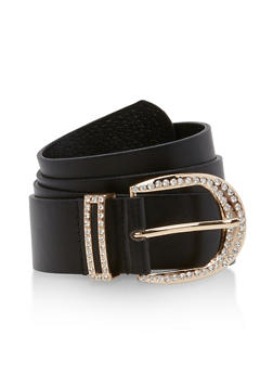 Rhinestone Buckle Belt - 1128041652417