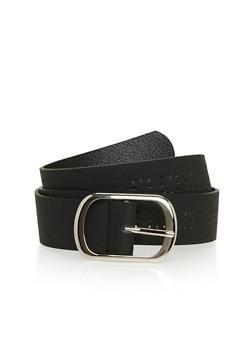Laser Cut Faux Leather Belt - 1128041652490