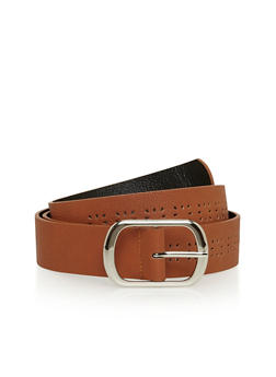Laser Cut Faux Leather Belt - 1128041652490