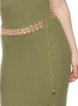 Pebble Cutout Chain Belt - 1128041652549