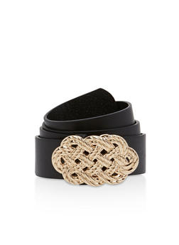 Metallic Woven Buckle Belt - 1128041652564