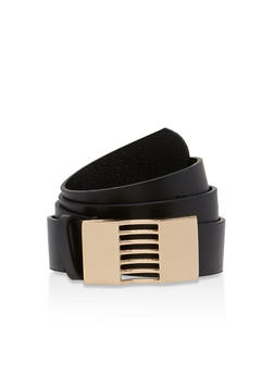 Metallic Cutout Buckle Belt - 1128041652574
