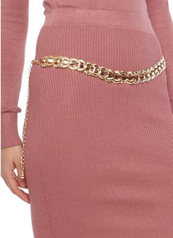 Metallic Chain Belt - 1128041652847