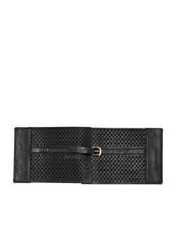 Plus Size Laser Cut Waist Belt - 1128041653865