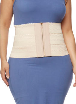 Stretch Knit Zippered Waist Belt - 1128041653924