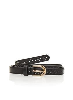 Laser Cut Faux Leather Belt - 1128041654074