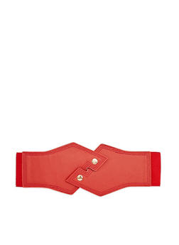 Interlocking Faux Leather Waist Belt - 1128041655588