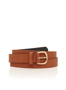Basic Skinny Faux Leather Belt - 1128041656143