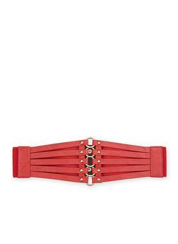 Plus Size Corset Belt - RED - 1128041657481
