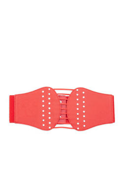 Plus Size Rhinestone Studded Stretch Belt - 1128041659165