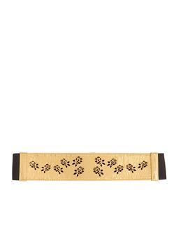 Waist Belt with Lasercut Rosettes - GOLD - 1128052803614