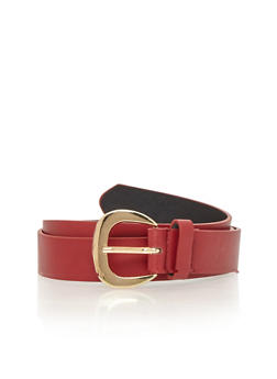 Basic Single Loop Faux Leather Belt - 1128052803967