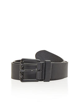 Faux Leather Single Loop Belt with Buckle Detail - 1128052803968