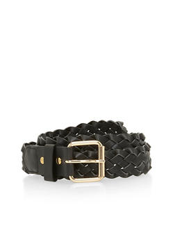 Faux Leather Braided Belt - 1128052803972