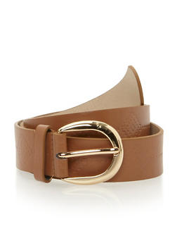 Plus Size Etched Faux Leather Belt - 1128052804343