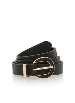 Skinny Faux Leather Belt - 1128052804344