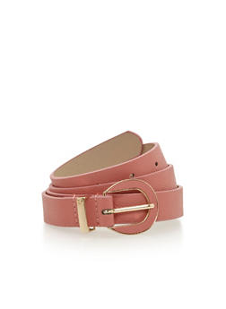 Skinny Faux Leather Belt - 1128052804344