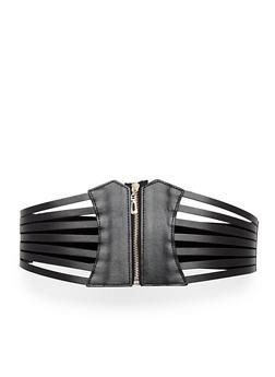 Plus Size Caged Stretch Waist Belt - 1128052806633