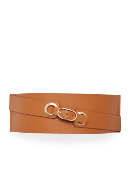 Faux Leather Stretch Waist Belt - 1128052807097