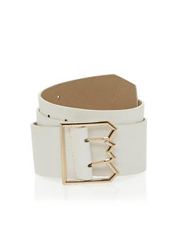 Plus Size Saw Tooth Buckle Faux Leather Belt - 1128052808910