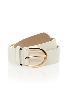 Saw Tooth Buckle Faux Leather Belt - 1128052809100