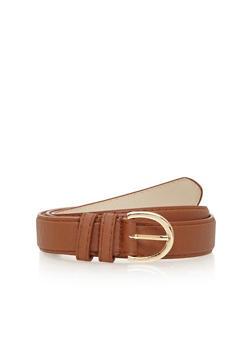 Basic Faux Leather Skinny Belt - 1128061593752