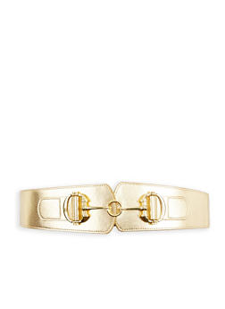 Interlocking Metallic Buckle Stretch Waist Belt - 1128066920252