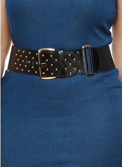 Plus Size Studded Waist Belt - 1128066923327