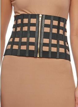Caged Stretch Waist Belt - 1128066924170